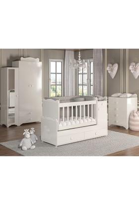 Patiko Babysun Lüks Bebek Odası 3 Kapılı Gece Lambalı Beyaz