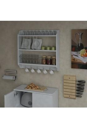 Sanal Mobilya Barletta Mutfak Rafı Beyaz