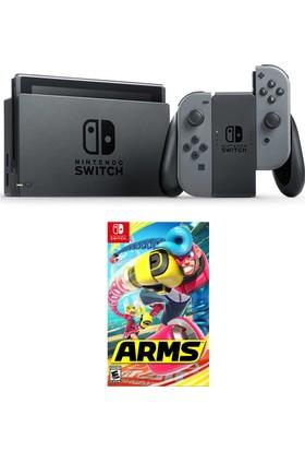 Nintendo Switch Gri + Switch Arms