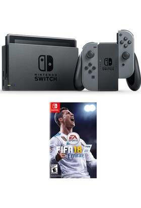 Nintendo Switch Gri + Fifa 18