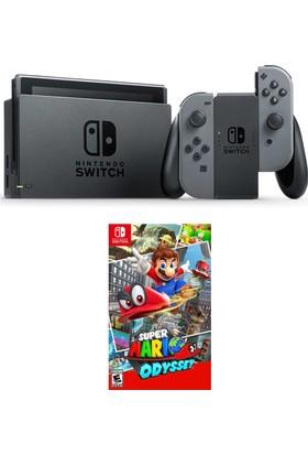 Nintendo Switch Gri + Super Mario Odyssey