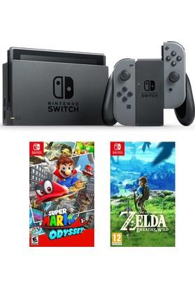 Nintendo Switch Gri + Super Mario Odyssey + Zelda The Legend Of