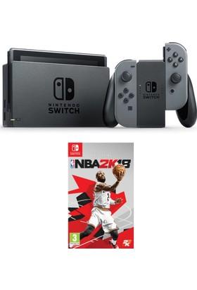 Nintendo Switch Gri + Nba 2K18