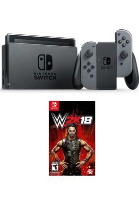 Nintendo Switch Gri + W2K18
