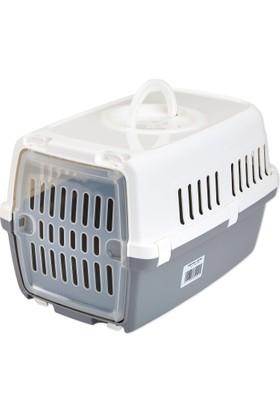 Savic Zephos (1) Plastik Kapılı Gri Kedi Ve Köpek Taşıma Kafesi 48 x 31,5 x 30 Cm