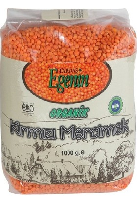 Tardaş Egenin Organik Kırmızı Mercimek 1 kg