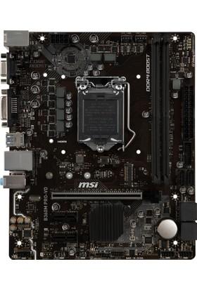 MSI B360M PRO - VD DDR4 2666MHz DVI VGA SATA 6GB/S USB3.1 mATX Anakart
