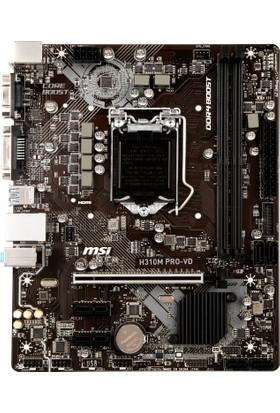 MSI H310M PRO -VD DDR4 2666MHz DVI VGA SATA 6GB/S USB3.1 mATX Anakart