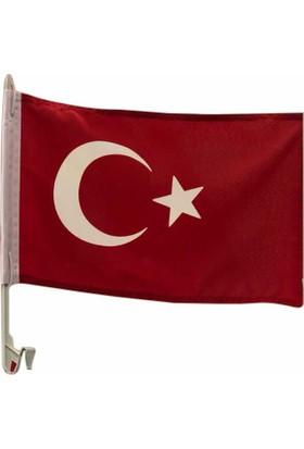 Gönder Bayrak Araç Aparatlı Türk Bayrağı 30X45Cm Ölçülerinde