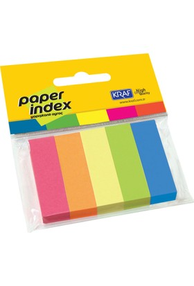 Kraf Kağıt Index 15X50Mm 5 Renk X 100 Sy 1550