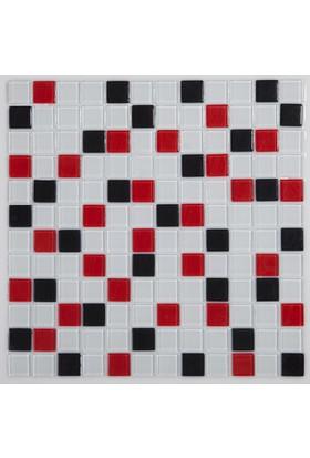 Dizayncam - Brest Mix Kırmızı - Cam Mozaik