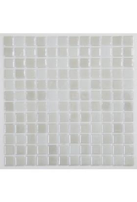 Dizayncam - Toulon Beyaz - Cam Mozaik