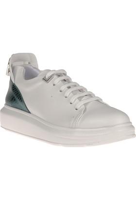 Uniquer, Kadın Ayakkabı 8158U 142 Beyaz-Yeşil