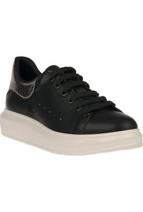 Uniquer, Kadın Ayakkabı 8158U 149 Siyah-Gümüş