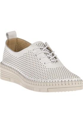 Uniquer, Kadın Hakiki Deri Ayakkabı 8166U 6070 Beyaz