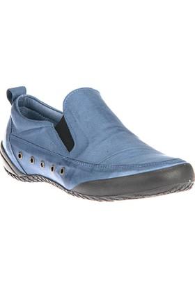 Uniquer, Kadın Hakiki Deri Ayakkabı 8178U 03 Saks Mavi