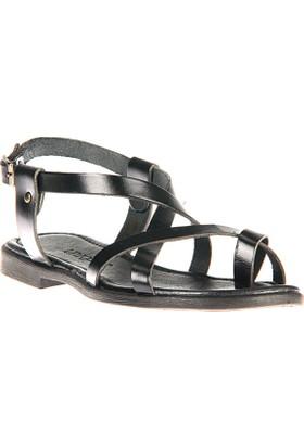 Uniquer, Kadın Hakiki Deri Sandalet 81354U 101 Siyah