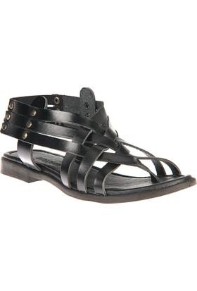 Uniquer, Kadın Hakiki Deri Sandalet 81354U 105 Siyah