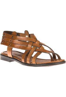 Uniquer, Kadın Hakiki Deri Sandalet 81354U 105 Taba