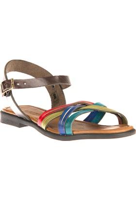 Uniquer, Kadın Hakiki Deri Sandalet 81354U 118 Multi