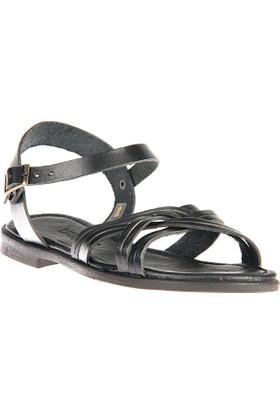 Uniquer, Kadın Hakiki Deri Sandalet 81354U 118 Siyah