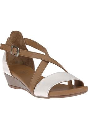 Ziya, Kadın Hakiki Deri Ayakkabı 8176 7028 Beyaz-Taba