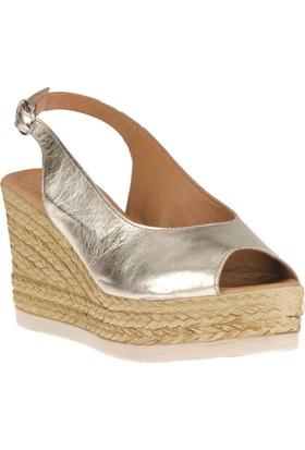 Ziya, Kadın Hakiki Deri Sandalet 8176 2041 Dore