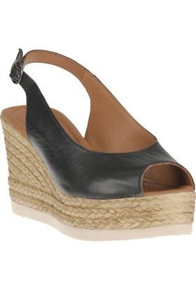 Ziya, Kadın Hakiki Deri Sandalet 8176 2041 Siyah