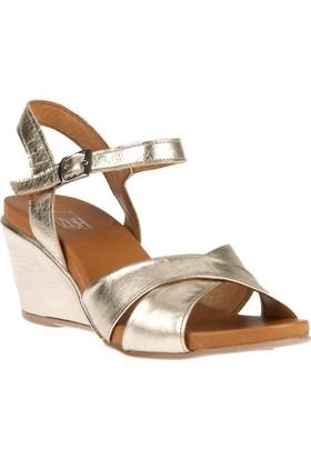Ziya, Kadın Hakiki Deri Sandalet 8176 6032 Dore