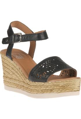 Ziya, Kadın Hakiki Deri Sandalet 8176 6048 Siyah