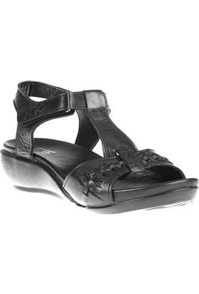 Ziya, Kadın Hakiki Deri Sandalet 8176 6129 Siyah