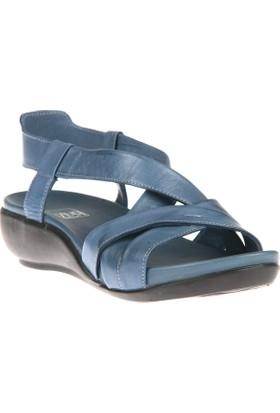 Ziya, Kadın Hakiki Deri Sandalet 8176 9038 Mavi
