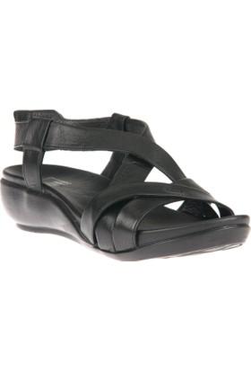 Ziya, Kadın Hakiki Deri Sandalet 8176 9038 Siyah