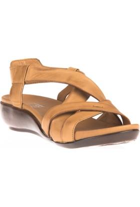 Ziya, Kadın Hakiki Deri Sandalet 8176 9038 Taba
