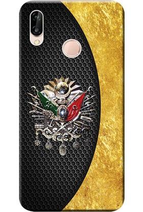 Kılıf Merkezi Huawei P20 Lite Kılıf Silikon Baskılı Osmanlı Tuğra Tasarım STK:413