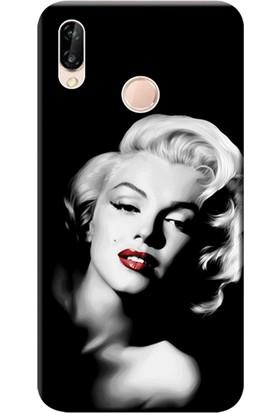Kılıf Merkezi Huawei P20 Lite Kılıf Silikon Baskılı Marilyn Monroe STK:614