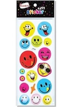 Ticon Gülen Yüz Sticker Yapışkanlı 138057