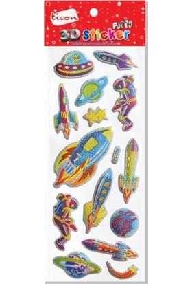 Ticon 3D Sticker Yapışkanlı 177572