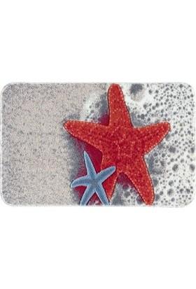 Piyop Starfish Deniz Yıldızı Oymalı Banyo Halısı Kırmızı 57 X 100 Cm