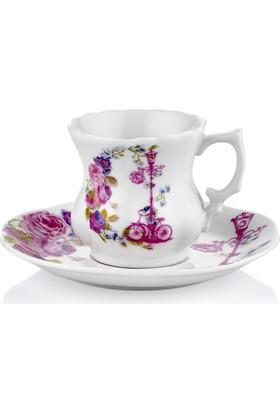 Taç Romantic Like 6 Lı Kahve Fincan Takımı (Tf)