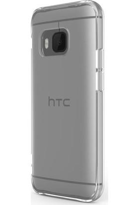Case 4U HTC One M9 Ultra İnce Şeffaf Silikon Kılıf