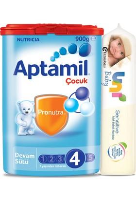 Aptamil 4 900 + Uni Baby Yenidoğan Islak Pamuk Mendil Hediyeli (56 Yaprak)