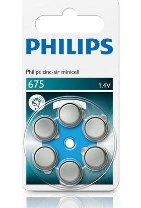 Philips ZA675B6A/10 İşitme Cihazı Pili 675 1.4V Çinko 6'lı