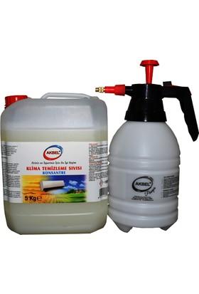 Akbel Klima Temizleme Sıvısı Konsantre 5Kg + Uygulama Pompası
