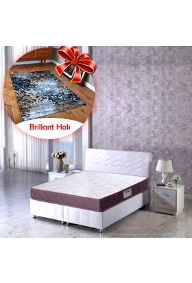 Padişah Meri Full Ortopedik Lüks Yatak + Brillant 80x300 cm Halı