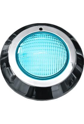 Aktes Mavi Işık Krom Sıva Üstü Havuz Lambası