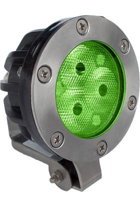 Aktes 3 Watt Yeşil Işık Süs Havuzu Aydınlatma Spotu