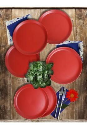 Keramika 6 Adet 20 Cm Hitit Pasta Mat Kırmızı