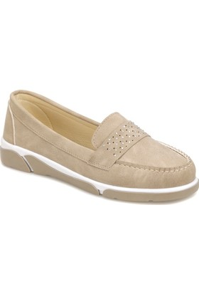 Art Bella Cs18001 Vizon Kadın Loafer