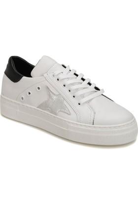 Butigo Day85Z01Z Siyah Beyaz Kadın Sneaker Ayakkabı